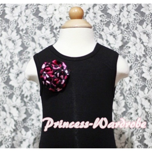 Black Baby Pettitop & One Hot Pink Heart Rose NT111