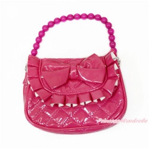 Hot Pink Bow Little Cute Handbag Petti Bag Purse CB151