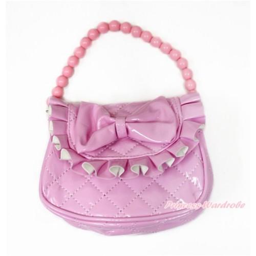 Light Pink Bow Little Cute Handbag Petti Bag Purse CB152