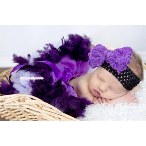 Dark Purple Feather Newborn Pettiskirt N118
