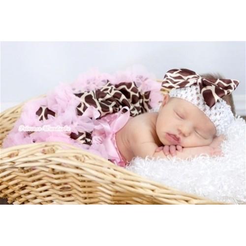 Light Pink Giraffe Baby Pettiskirt N61