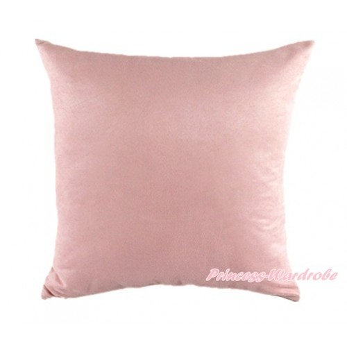 Light Pink Solid Color Home Sofa Cushion Cover HG004
