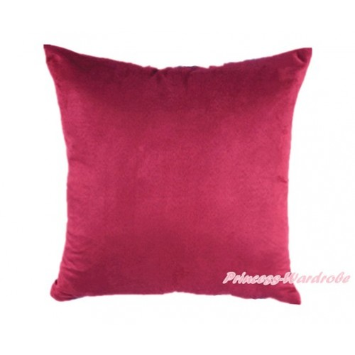Raspberry Wine Red Solid Color Home Sofa Cushion Cover HG007