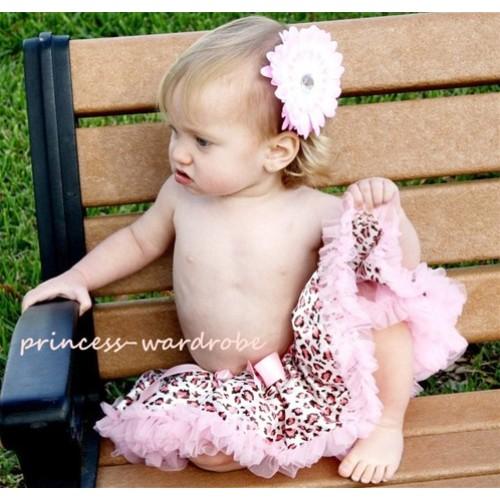 Light Pink Leopard New Born Pettiskirt N36