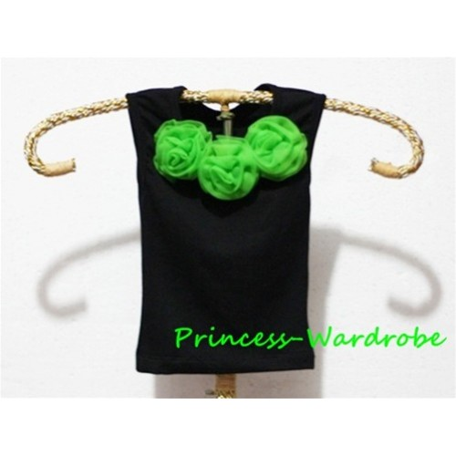 Black Baby Pettitop & Lime Green Rosettes NT15