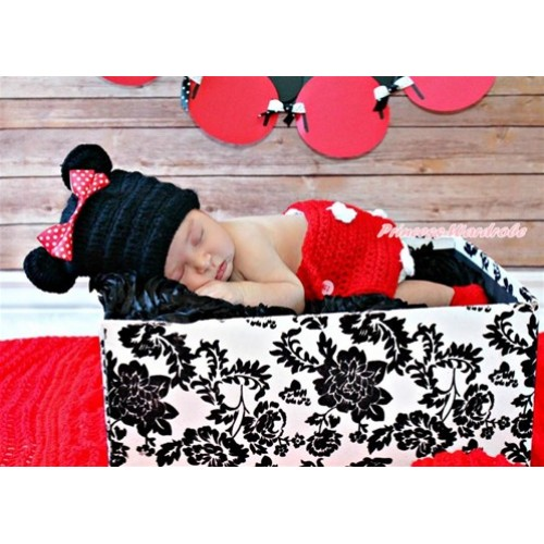 Minnie Photo Prop Crochet Newborn Baby Custome C150