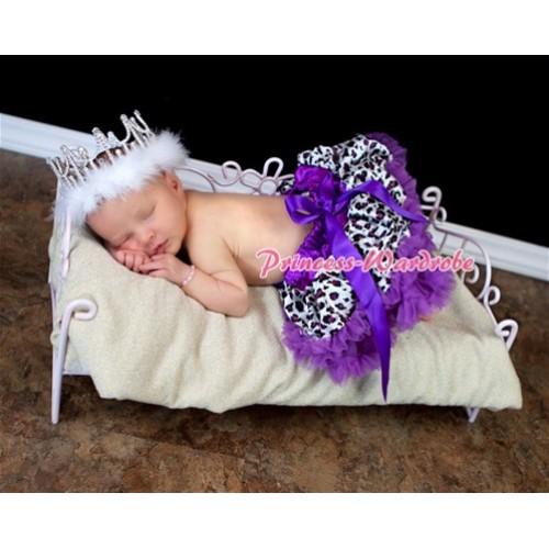 Dark Purple Leopard New Born Pettiskirt N43