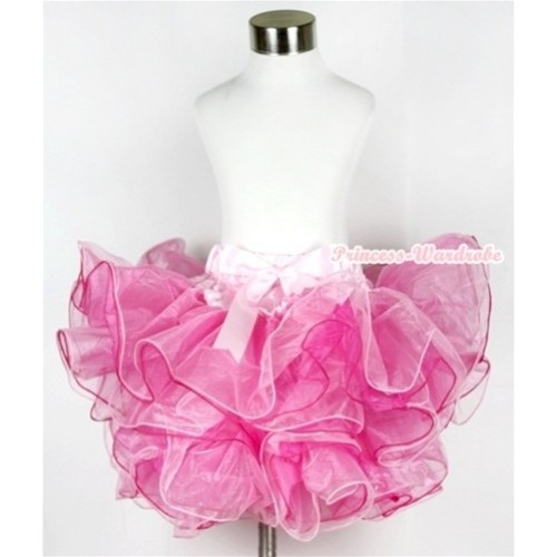 Hot Light Pink 8 Layers Full Pettiskirt With Light Pink Bow B161