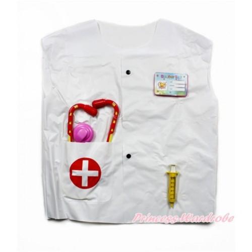 Doctor With Syringe & Stethoscope Dress Up Costume 3PC Set C251