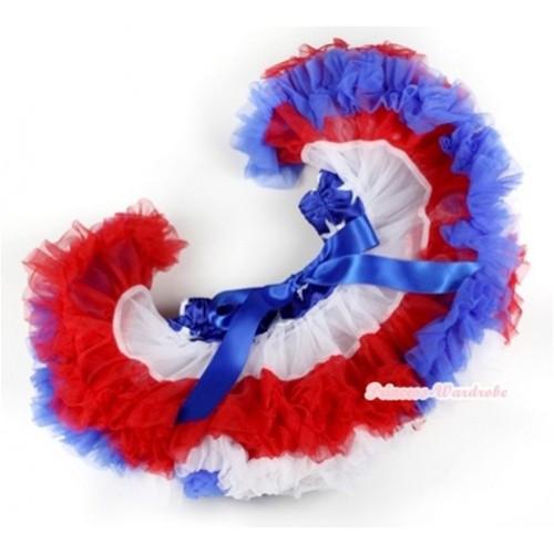 Patriotic American Stars Waist Red White Royal Blue PREMIUM New Born Pettiskirt D013