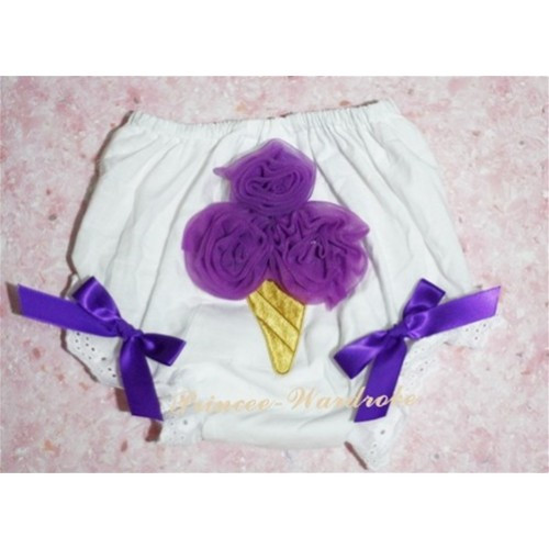 Dark Purple Ice Cream Panties Bloomers BC08