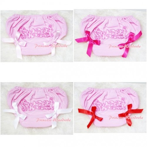 Light Pink Bloomers & Pink Sweet Print & Various Bow BL51