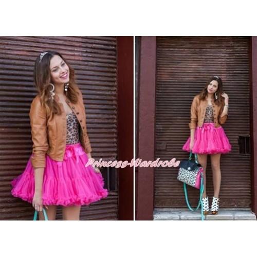 Hot Pink Adult Pettiskirt XXXL AP61