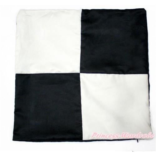 Black White Checked Home Sofa Cushion Cover HG097
