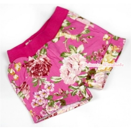 Hot Pink Peony Pattern Pettishort PS011