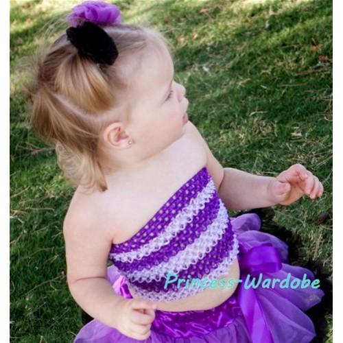 Lavender Light Pink Crochet Tube Top CT92