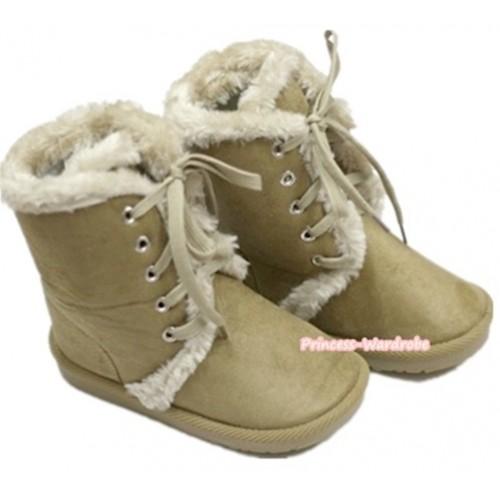 Khaki Mid Calf Warm Children Boot SB24