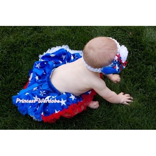 Patriotic America Star Baby Pettiskirt N72