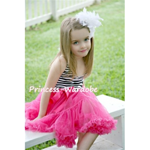 Zebra Print with Hot Pink ONE-PIECE Petti Dress with Bow LP02