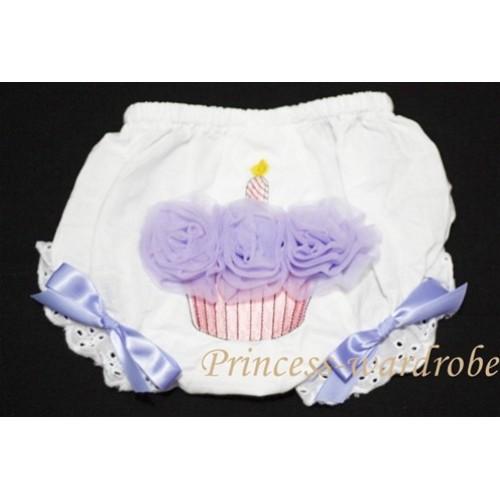 White Bloomer & Lavender Cupcake BC37