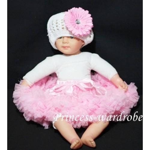 Light Pink PREMIUM New Born Pettiskirt D06