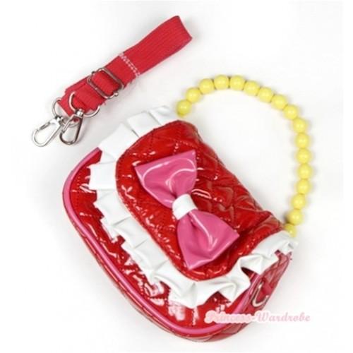 Hot Pink Bow Red Little Cute Handbag Petti Bag Purse CB65