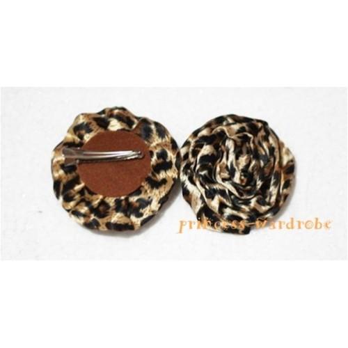 Leopard Print Rosettes Hair Pin H111