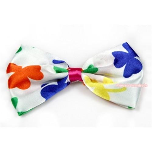 Saint Patrick's Day Print Satin Bow Hair Clip H705
