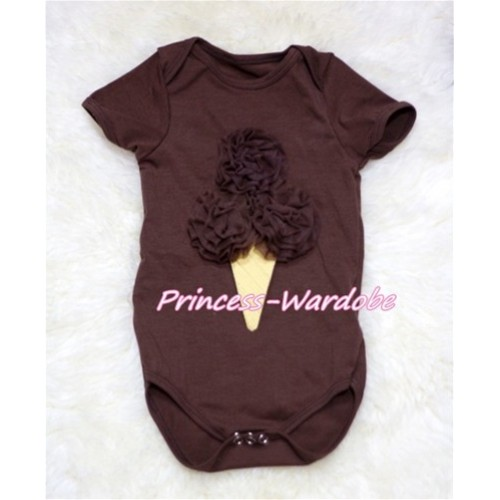 Brown Baby Jumpsuit with Brown Ice Cream TH135