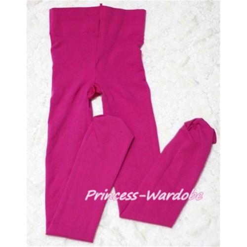 Plain Hot Pink Leggings Skinny Pants Tights LG140
