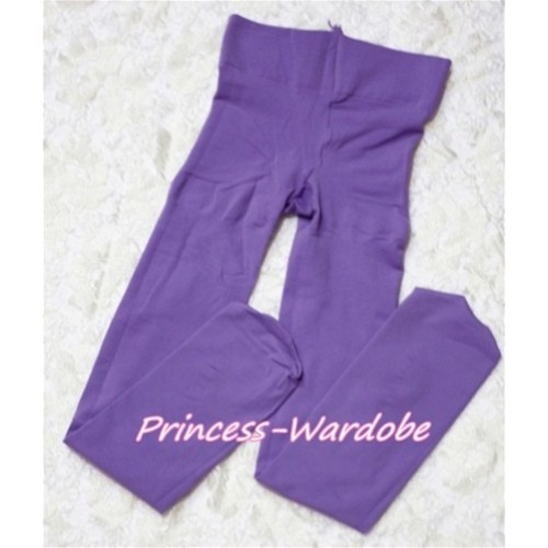 Plain Lavender Leggings Skinny Pants Tights LG141