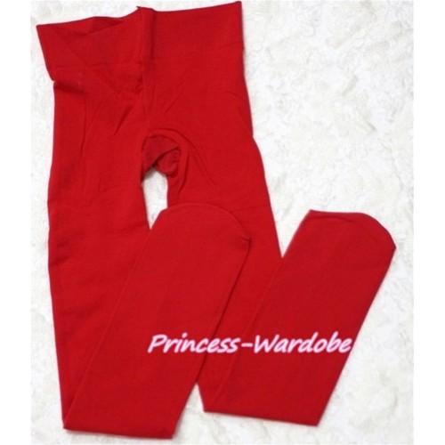 Plain Red Leggings Skinny Pants Tights LG142