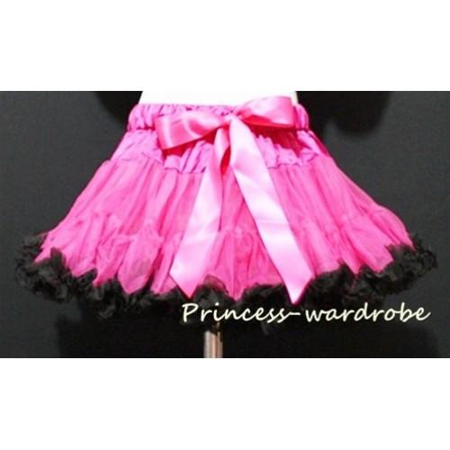 Hot Pink Black Pettiskirt P25