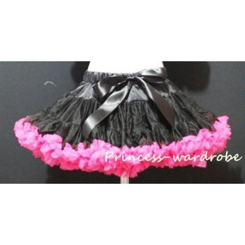 Black Hot Pink Pettiskirt P27