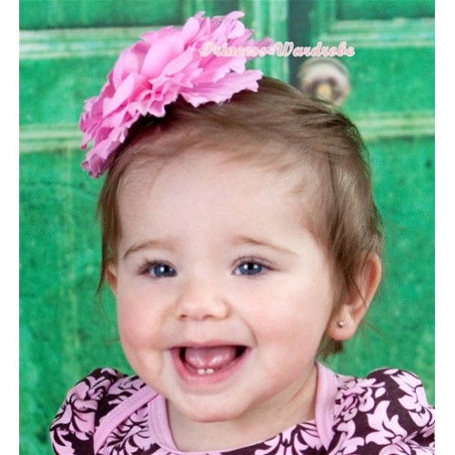 Light Pink Peony Hair Clip H219