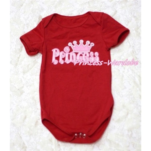 Hot Red Baby Jumpsuit with Princess Print TH125