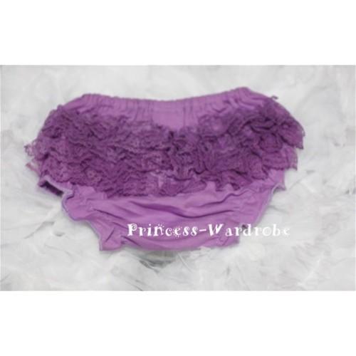 Dark Purple Lace Panties Bloomers B32