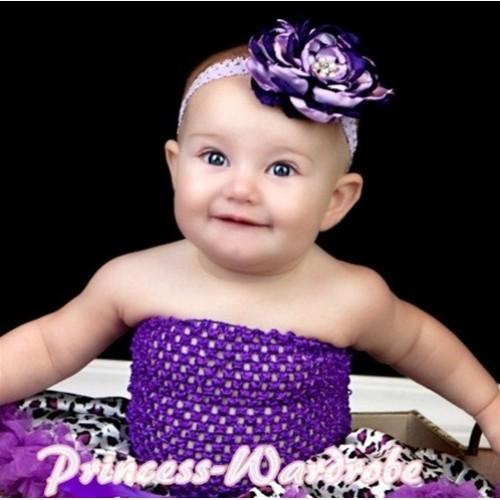 Dark Purple Crochet Tube Top CT00