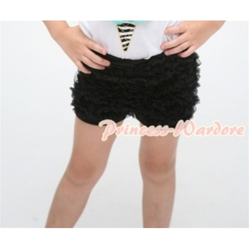 Black Ruffles Pettishort PS002