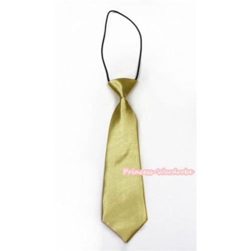 Goldenrod Silk Elastic Necktie BT12