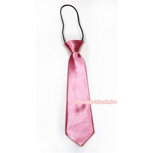 Light Pink Silk Elastic Necktie BT14