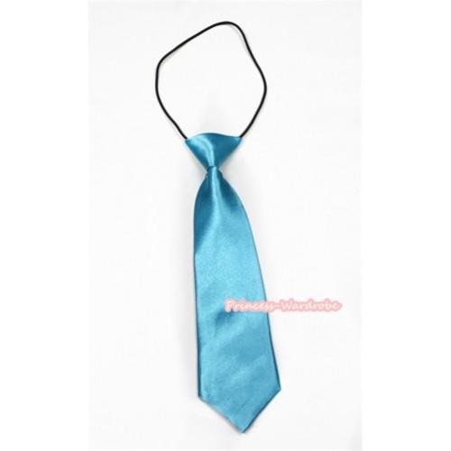 Light Blue Silk Elastic Necktie BT17