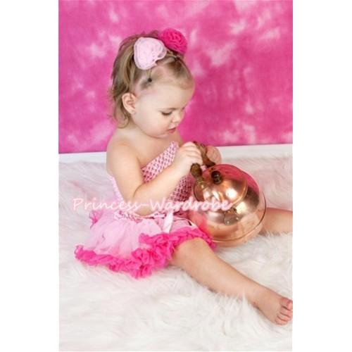 Light Pink Crochet Tube Top & Light Hot PInk Baby Pettiskirt CT219