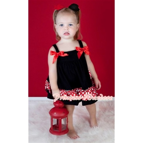 Minnie Swing Top with Red Bow matching Minnie Red White Polka Dots Panties Bloomers  SP07