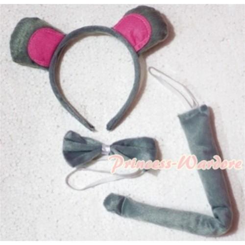 Dumbo Elephant 3 Piece Set in Headband, Tie, Tail PC005