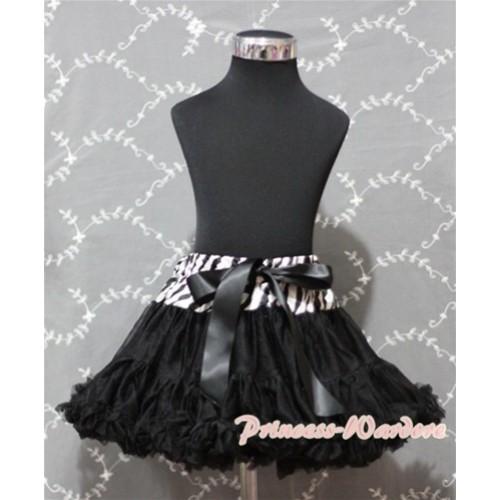 Zebra Waist Black Full Pettiskirt P134