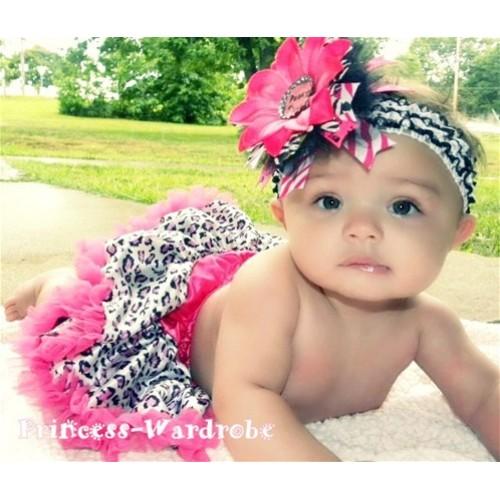 Hot Pink Purple Leopard New Born Pettiskirt N46