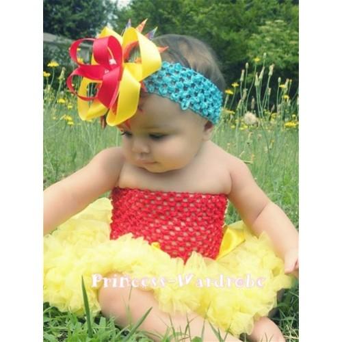 Hot Red Crochet Tube Top & Yellow Baby Pettiskirt CT13