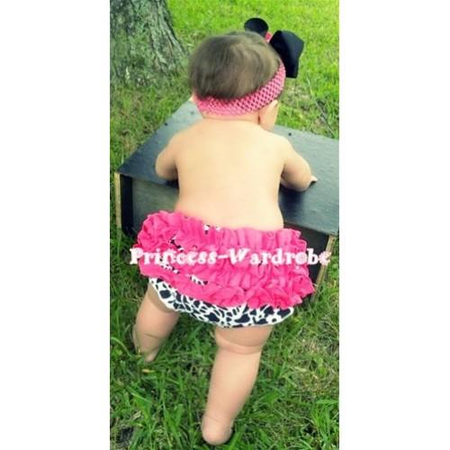 Hot Pink Milk Cow Ruffles Panties Bloomers B35
