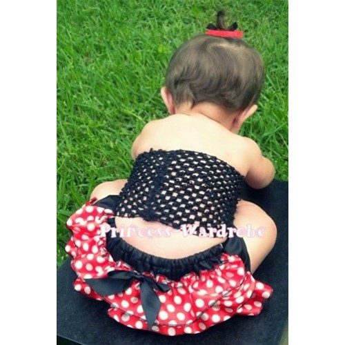 Black Crochet Tube To, Minnie Dots Bloomer CT26